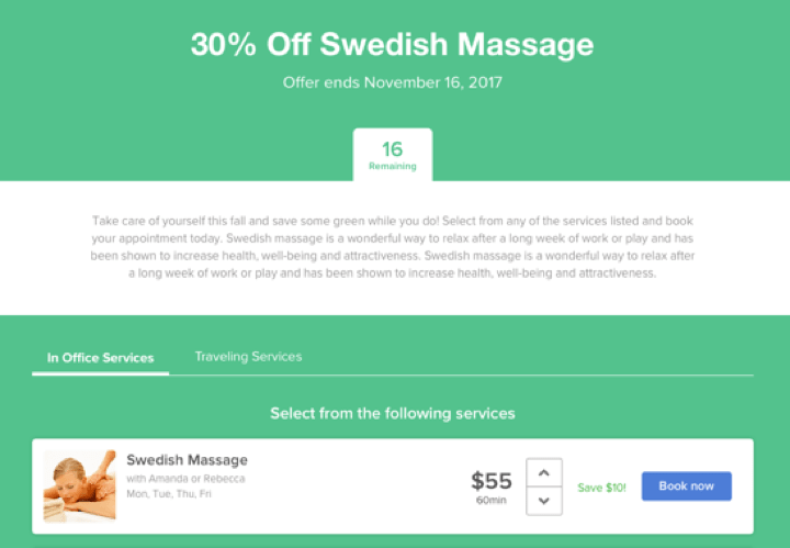 Create Custom Deal | Massage Promotion Ideas | MassageBook